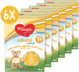 Lapte praf Milupa Milumil Junior 1+, 6 pachete x 600 g
