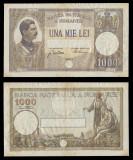 Bancnote Romanesti, bani vechi, 1000 lei 1934, Carol II foarte rara