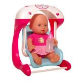 Papusa bebelus cu leagan Mini Baby, 22.5 cm, 3 ani+, Oem