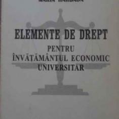 ELEMENTE DE DREPT PENTRU INVATAMANTUL ECONOMIC UNIVERSITAR - MARIA HARBADA