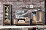 Set de mobila living din pal, 4 piese Chelsea I Natural / Grafit