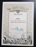 """Diploma 1971 """" Lauda muncii , lauda tarii """" Pitesti Arges Propaganda comunista"""