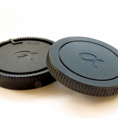 Set Capac body + Capac spate obiective Sony Alpha & Minolta Sony A - mount