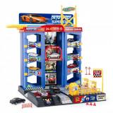 Set 3 masinute de jucarie cu garaj, scara 1:64, multicolor