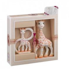 Set cadou jucarii Sophie-sticat, Girafa Sophie si inel dentitie Bio