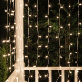 Ghirlanda luminoasa tip perdea, 400 LED-uri, 2x2 m, legare in serie, IP44