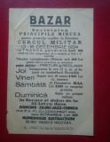 Afis 23x16 cm Bazar Societatea Principele Mircea
