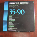 MAXELL-Banda UD XL 35-90, 1800 ft/550 m, pe rola plastic 18 cm Maxell, excelenta