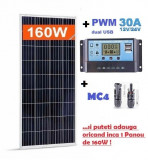 Panouri solare fotovoltaice 165W NOI -12V + regulator controller 30A GRATUIT, Fotovoltaic