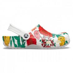 Saboți Femei casual Crocs Classic Printed Floral Clog