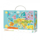 Puzzle descopera Europa Dodo, 100 piese, 64 x 64 cm, carton, 5 ani+
