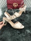 Sandale dama bej cu toc mic marime  40+CADOU