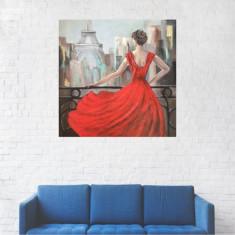 Tablou Canvas, Pictura de pe pod - 20 x 20 cm