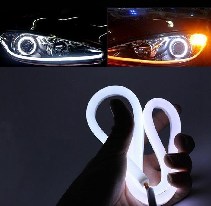 Banda led flexibila lumin de zi cu semnalizare 12v- set 2 buc 60cm