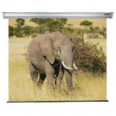 Ecran de proiectie Sopar Lorenzo SP5200LO 200x200 cm electric pe perete