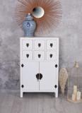 Consola exotica din lemn masiv alb MAY001