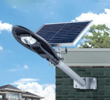 Stalp iluminat exterior panou solar proiector LED 30w suport prindere