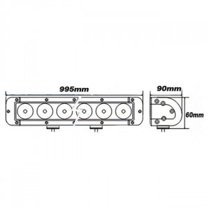 Bara proiectoare LED Auto Offroad 240W/12V-24V, 20400 Lumeni, 39″/100 cm, Combo Beam 12/60 Grade cu Leduri CREE XBD