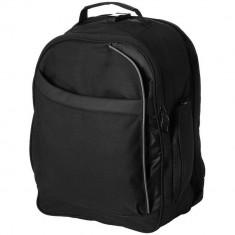 Rucsac Laptop, Everestus, CE, 15 inch, 600D poliester si pvc, negru, saculet de calatorie si eticheta bagaj incluse