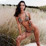 Costum de baie leopard-/corai, Bella Vista, Obsessive, 2 fete, S/L