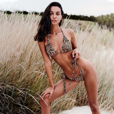 Costum de baie leopard-/corai, Bella Vista, Obsessive, 2 fete, S/L foto