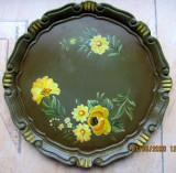 Cumpara ieftin Farfurie din lemn pictata manual.Flori.