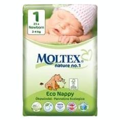 Scutece Eco pentru Nou Nascuti 2-4kg Nr.1 Moltex 23buc Cod: BG261894
