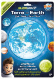 Sticker decorativ fosforescent - Earth   Buki