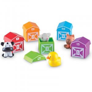 Figurine animalutele de la ferma Learning Resources, 10 piese, 18 luni - 4 ani