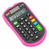 Calculator de birou, model cu 8 cifre, fucsia/negru, 6×9 cm