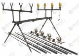 Kit 4 lansete  Fl Power Plus 2.7m cu 4 mulinete NBR 50 5 rulmenti si rodpod full