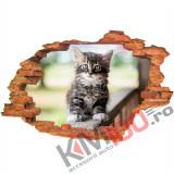 "Sticker ""Wall Crack"" Cat 9 - 120 x 80 cm"