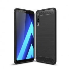 Husa silicon carbon Samsung A7 (2018), Plastic, Carcasa