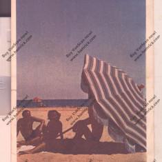 CARTE POSTALA*PE PLAJA, Circulata, Printata