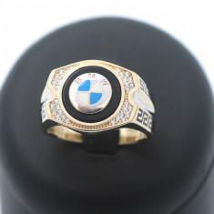 Inel barbati sigla BMW aur 14k