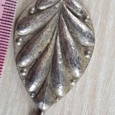 Superb medalion pandantiv - FRUNZA  -  argint vechi 835