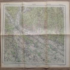 Pitestii/ harta Serviciul Geografic al Armatei 1939
