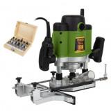 Freza lemn ProCraft POB 2400, 2400 W, 23000 Rpm cu set 12 freze 8 12 mm