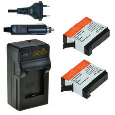Acumulator Jupio tip GoPro AHDBT-401 pentru HERO4 1160 mAh Pachet 2 acumulatori + incarcator, 3 Ani Garantie