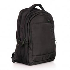 Rucsac laptop Crest Lamonza, 43 cm, Negru/Verde