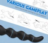 Bile Anale Grele Revis 27 cm Silicon Negru Mokko Toys
