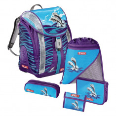 Ghiozdan Happy Dolphins Step By Step Junior, 5 piese