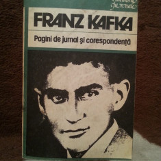 PAGINI DE JURNAL SI CORESPONDENTA-FRANK KAFKA