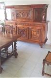 Garnitura stil pentru sufragerie-dining din lemn masiv sculptat REDUCERE