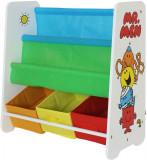 Cumpara ieftin Organizator carti si jucarii cu cadru din lemn Mr. Men