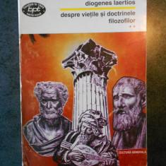 DIOGENES LAERTIOS - DESPRE VIETILE SI DOCTRINELE FILOZOFILOR volumul 2