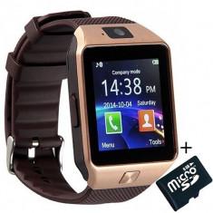 Smartwatch iUni DZ09 Plus, Camera 1.3MP, BT, 1.54 Inch, Auriu+Card MicroSD 8GB Cadou