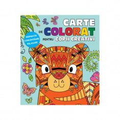 Carte de colorat pentru copii creativi Editura Litera
