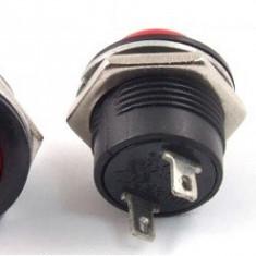 Push buton fara retinere, rosu, 20x19mm - 124734