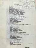 Ioan Reu - manuscris dactilografiat cu dedicatie - 3 poezii